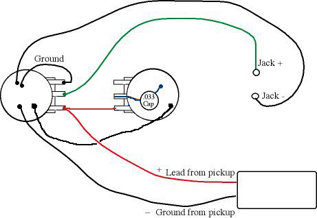 pickup wiring diagram one volume tone pickup wiring diagrams 1 pickup 1 volume wiring 1 auto wiring diagram schematic