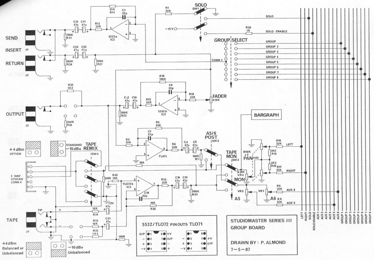 80 S Studiomaster Console