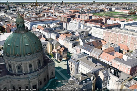 Copenhagen, Denmark in 3D