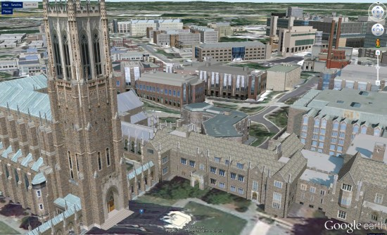 Duke University Campus Map on