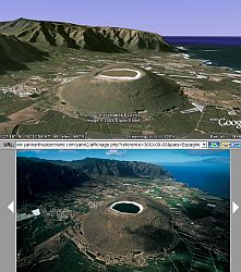 matching photos arthus bertrand in Google Earth