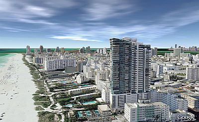 Miami Beach New 3D Textured Buildings in Google Earth