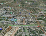 Berlin with layers in Google Earth