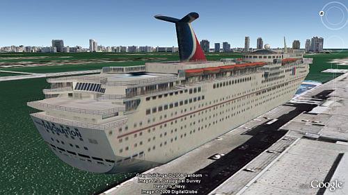 3D Cruiseship in Google Earth