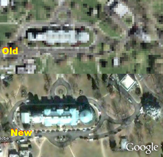 Naval Observatory not censored in Google Earth