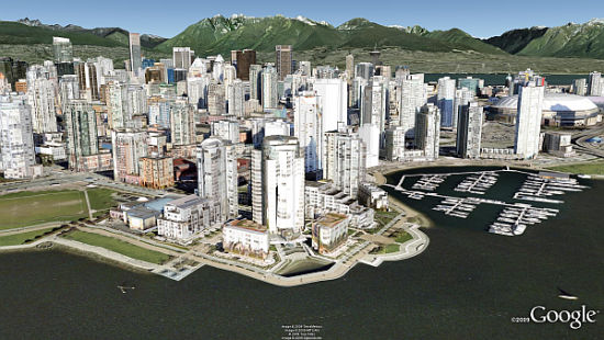 Vancouver in 3D in Google Earth