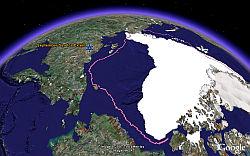 Arctic Sea Ice melting in Google Earth