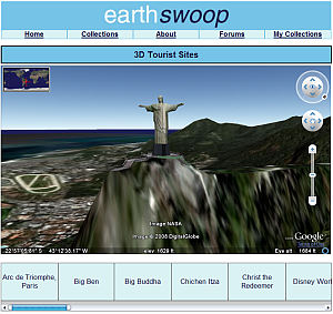 Christ the Redeemer in 3D in Google Earth