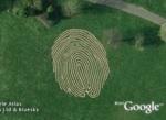 World's largest fingerprint in Google Earth