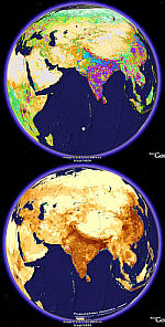 Population Maps in Google Earth