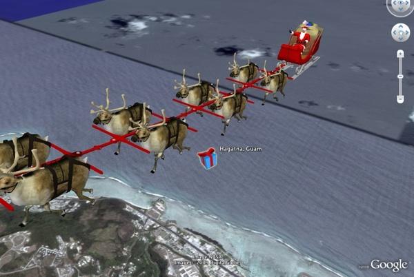 Vean a Santa Claus Hacer sus Entregas