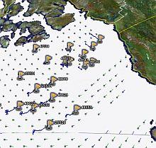 Arctic Ice Floe satellite/aerial photos in Google Earth