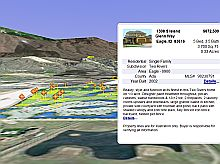 Real Estate Listing for Boise Idaho in Google Earth