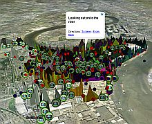 Emotion Map of Greenwich in Google Earth