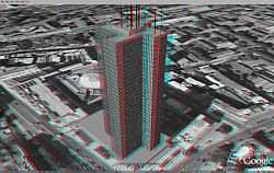Euston Tower London in Google Earth