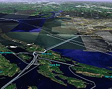 Ferry Routes in Google Earth