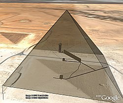 Great Pyramid of Giza in Google Earth