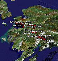 The Iditarod Dog Sled Race in Google Earth