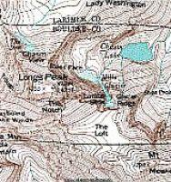 Longs Peak Topographic map in Google Earth