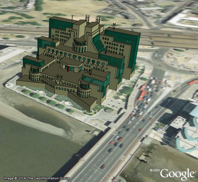 MI6 Headquarters in Google Earth