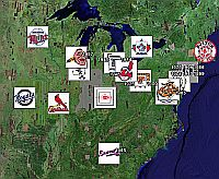 MLB Baseball World Series in Google Earth