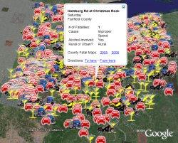 Ohio Traffic Fatalities 2005 in Google Earth