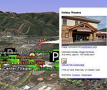 Sundance Film Festival in Google Earth