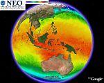 NASA Sea Surface Temperature in Google Earth