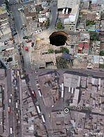 Guatemala City Giant sinkhole  in Google Earth
