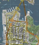 Google Maps overlay of Sydney in Google Earth