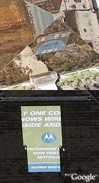 Luxor Hotel and Casino ads in Google Earth