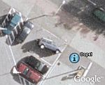 Car tipping in Google Earth