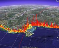 Lloyds insurance visualizations in Google Earth