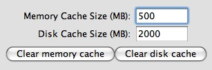 GE Cache Options