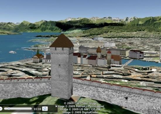 Lucerne, Switzerland in 3D in Google Earth
