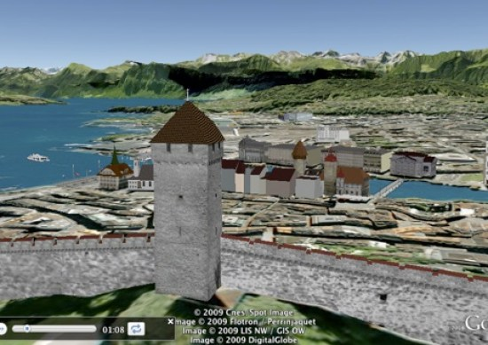 Lucerne, Switzerland in 3D in Google Earth