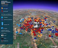 Crisis in Darfur on Google Earth