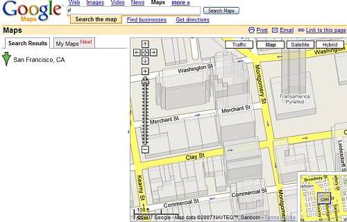 Google Maps in 2.5D