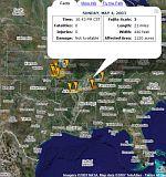 Tornado Paths in Google Earth