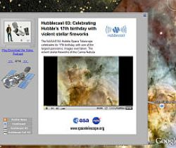 Hubble Cast and other new layers in Google Earth's Sky