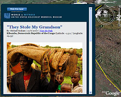 USHMM World is Witness layer in Google Earth