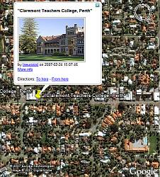 Flickr Shower (FlickrShower) in Google Earth