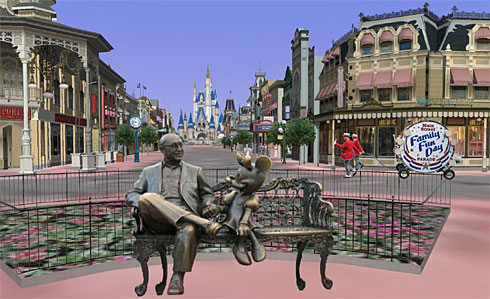 Disney World in Google Earth