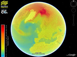British Met Office Climate Change Layer in Google Earth