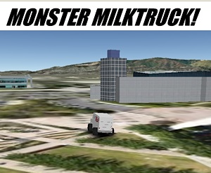 Monster Milktruck Game in Google Earth Plugin