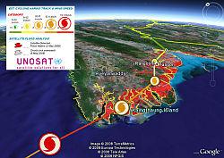 Myanmar Struck by Cyclone Nargis in Google Earth