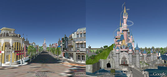 Disney Paris in 3D in Google Earth