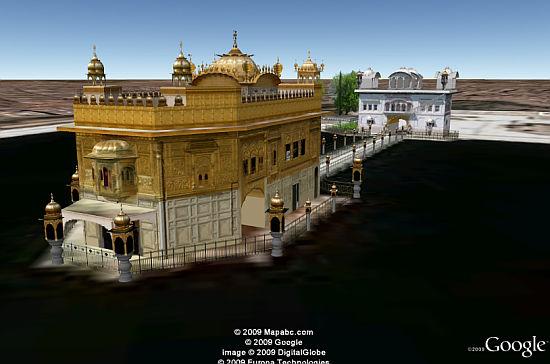 Golden Temple in 3D in Google Earth