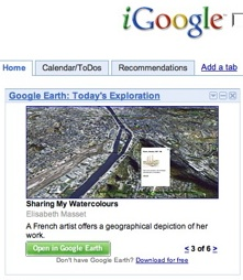 Google Gadget for Google Earth Gallery