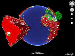 Deforestation in Google Earth